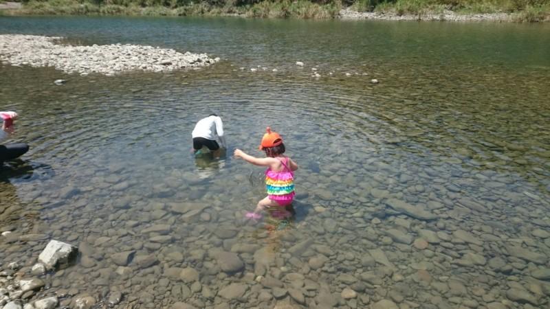 暑かった川遊び
