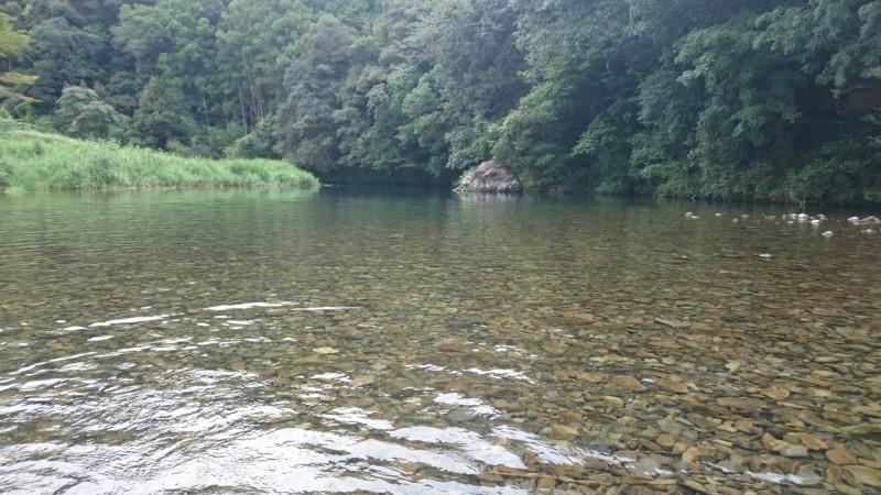 夏休み最後の土曜日 四万十川支流で涼む